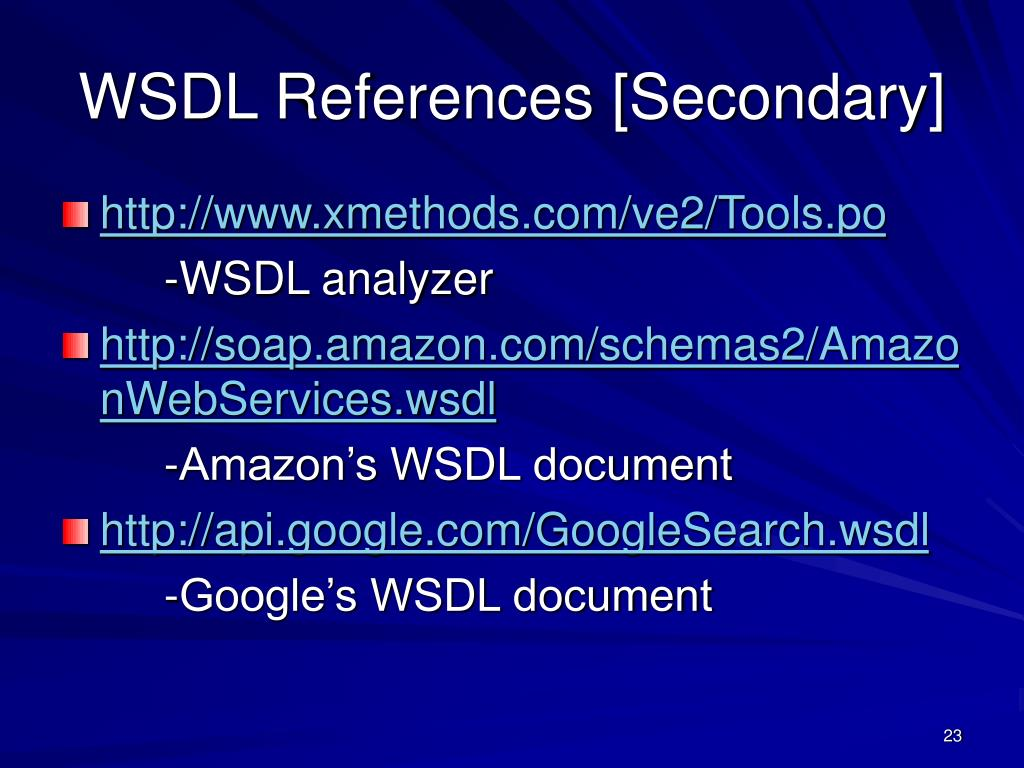 WSDL References [Secondary]