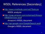 wsdl references secondary