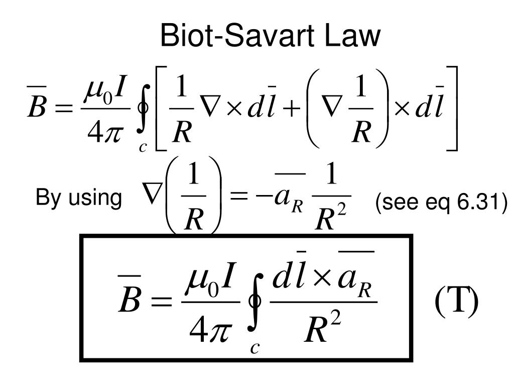 PPT - Lecture 9 Vector Magnetic Potential Biot Savart Law