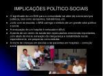 implica es pol tico sociais