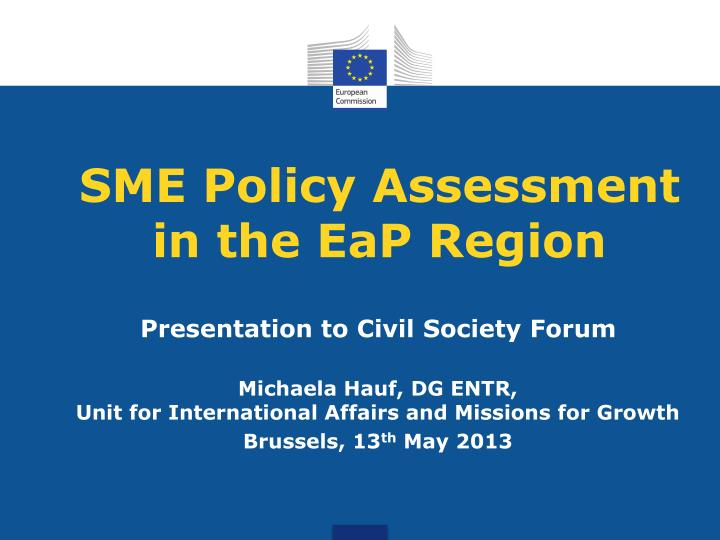 sme policy assessment in the eap region n.