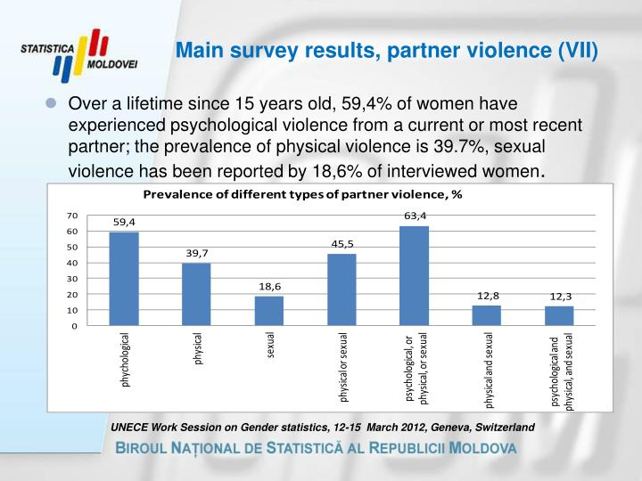Main survey results, partner violence (VII)
