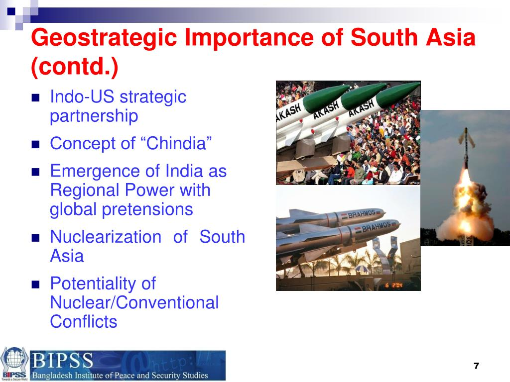 Geostrategic Importance of South Asia (contd.)
