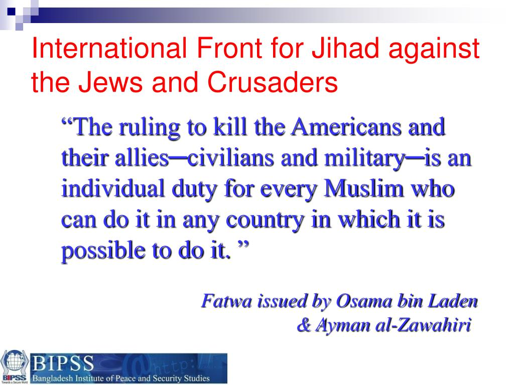International Front for Jihad against the Jews and Crusaders