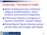 overview terrorism in india