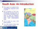 south asia an introduction