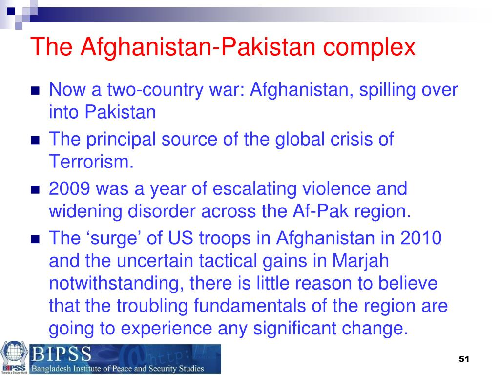The Afghanistan-Pakistan complex