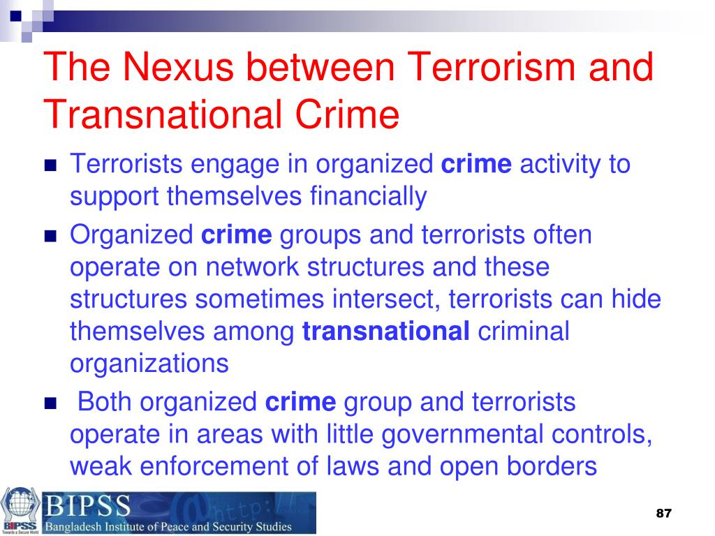The Nexus between Terrorism and Transnational Crime