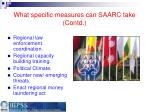what specific measures can saarc take contd