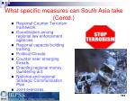 what specific measures can south asia take contd