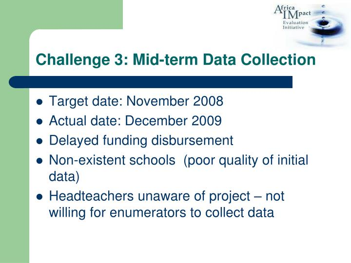 Challenge 3: Mid-term Data Collection