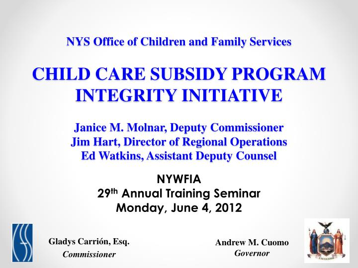 Nywfia 29 th annual training seminar monday june 4 2012