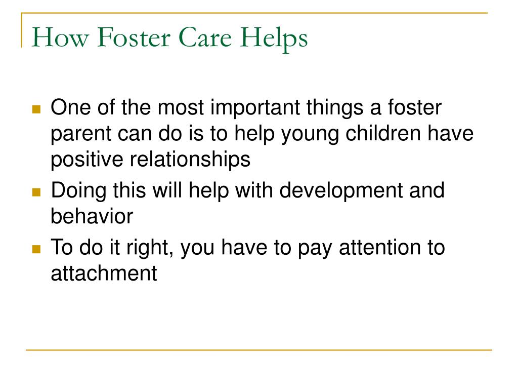 How Foster Care Helps