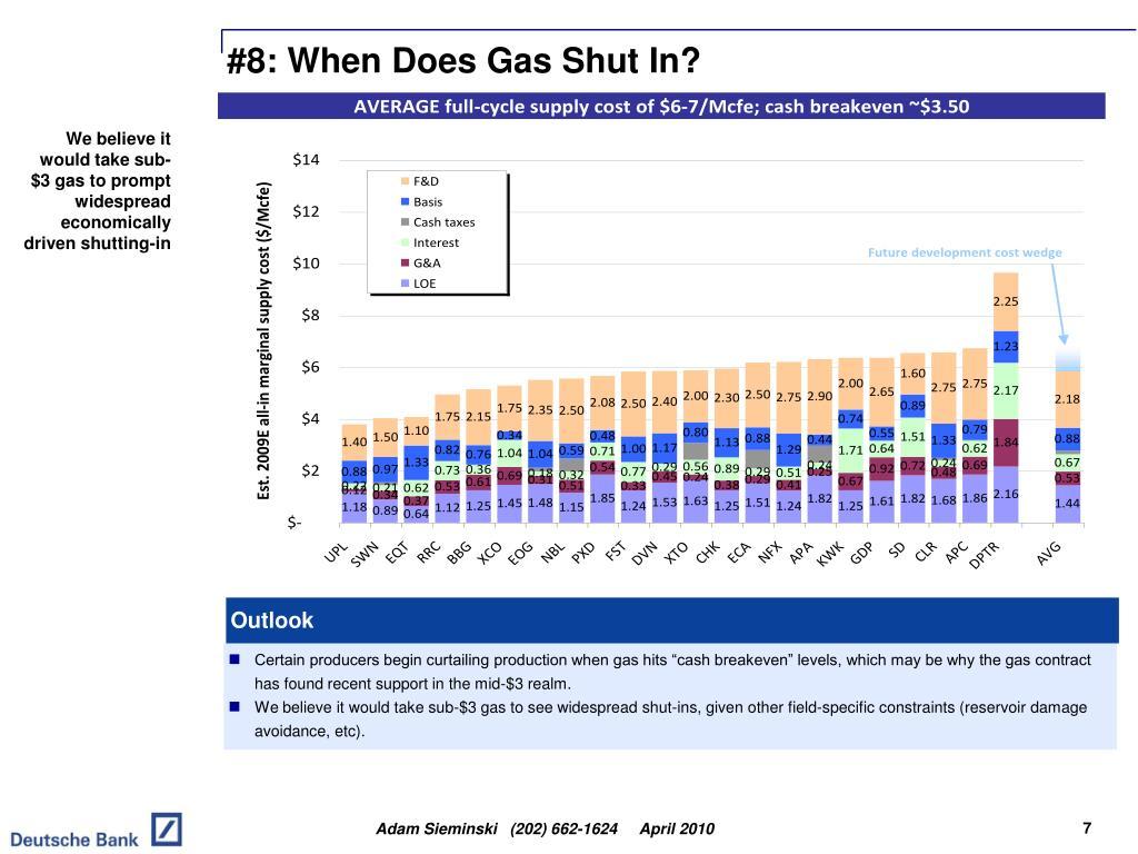 #8: When Does Gas Shut In?