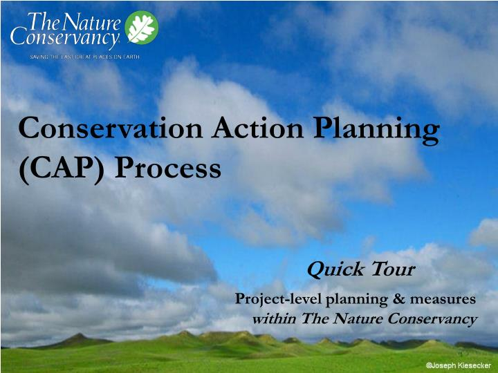 conservation action planning cap process n.