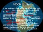 rock clues