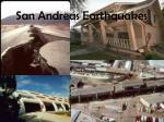 san andreas earthquakes