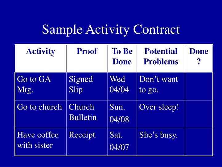 Sample Activity Contract