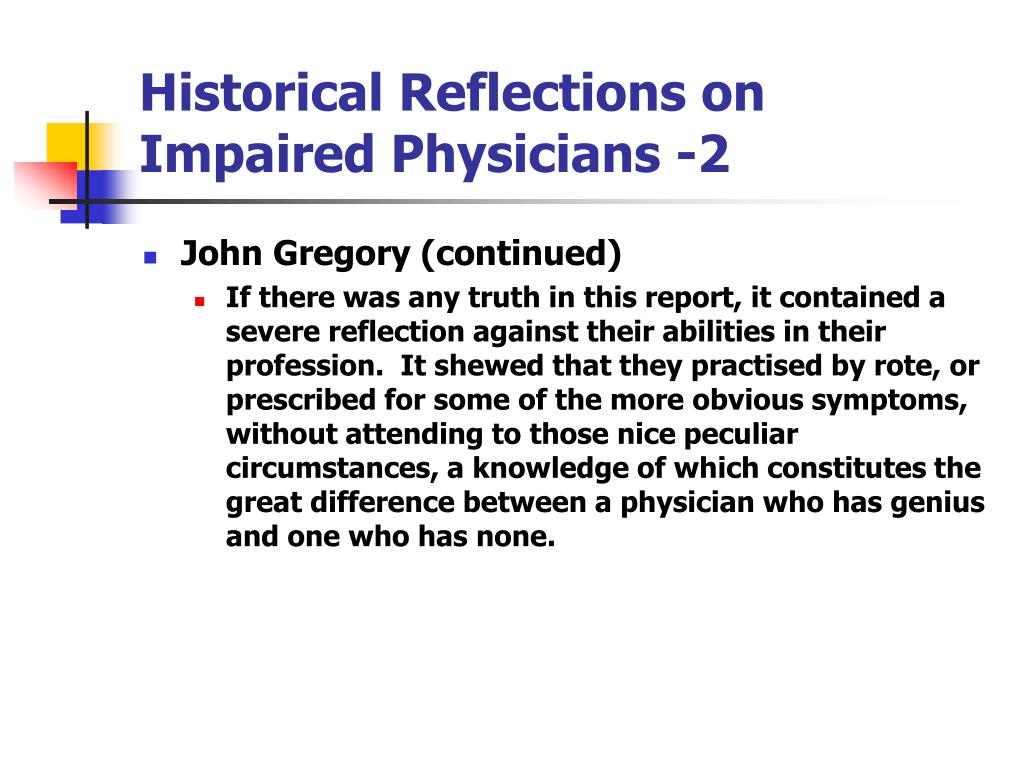 Historical Reflections on Impaired Physicians -2