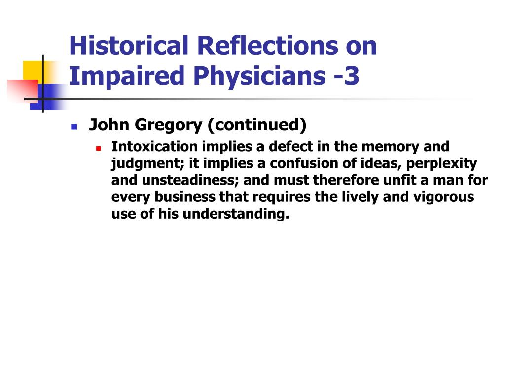 Historical Reflections on Impaired Physicians -3
