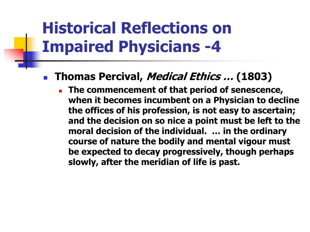 Historical Reflections on Impaired Physicians -4