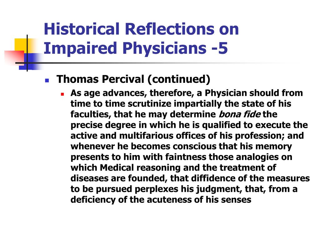Historical Reflections on Impaired Physicians -5