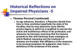 historical reflections on impaired physicians 5