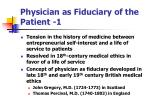 physician as fiduciary of the patient 1