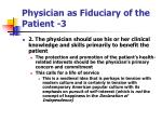 physician as fiduciary of the patient 3