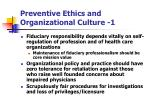preventive ethics and organizational culture 1