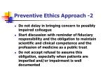 preventive ethics approach 2