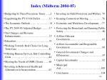 index midterm 2004 05