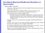 investing in behavioral health and alternatives to incarceration63