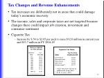 tax changes and revenue enhancements