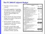 the fy 2004 05 adjusted budget24