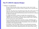 the fy 2004 05 adjusted budget26