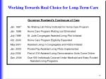 working towards real choice for long term care43