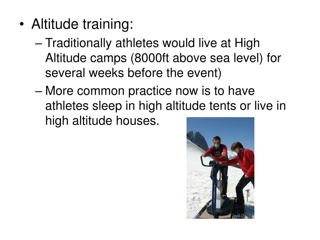 Altitude training: