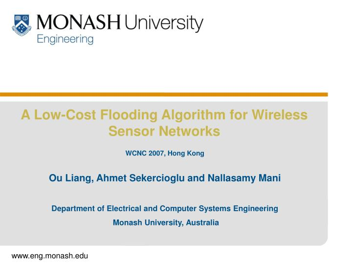 department of electrical and computer systems engineering monash university australia n.