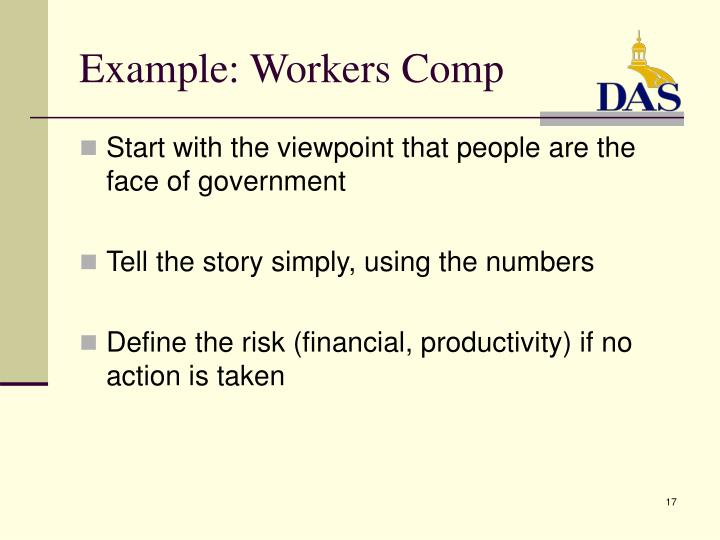Example: Workers Comp