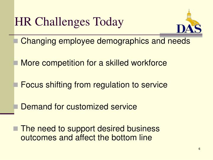 HR Challenges Today