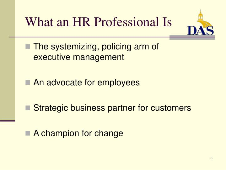 What an hr professional is