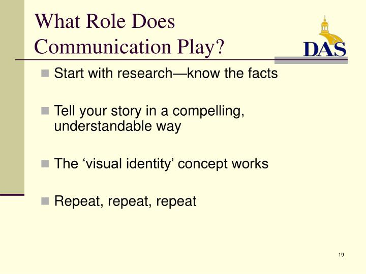 What Role Does Communication Play?