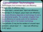 conservation technologies