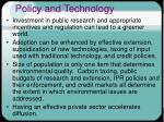 policy and technology