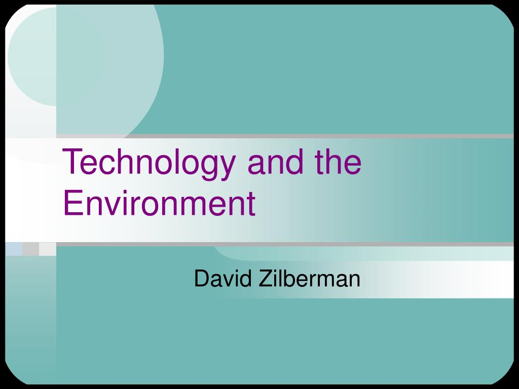 technology and the environment l.