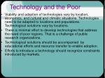 technology and the poor