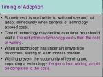 timing of adoption