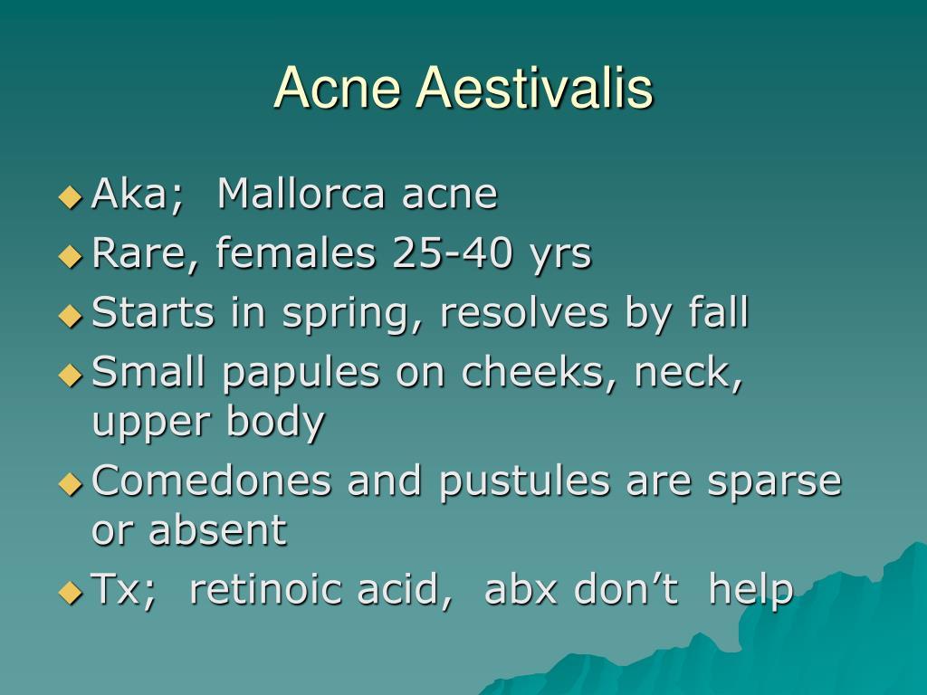 Acne Aestivalis