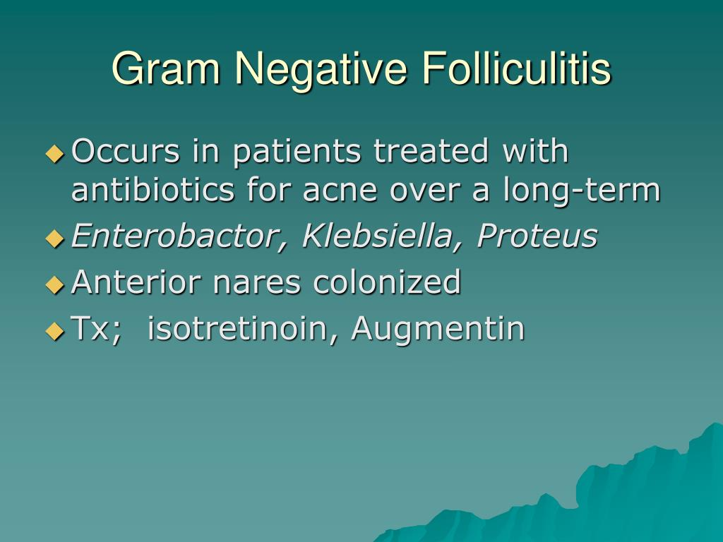 Gram Negative Folliculitis